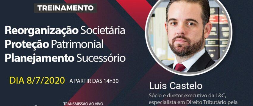 Hoje às 14h30 – Reorganização Societária, Proteção Patrimonial e Planejamento Sucessório
