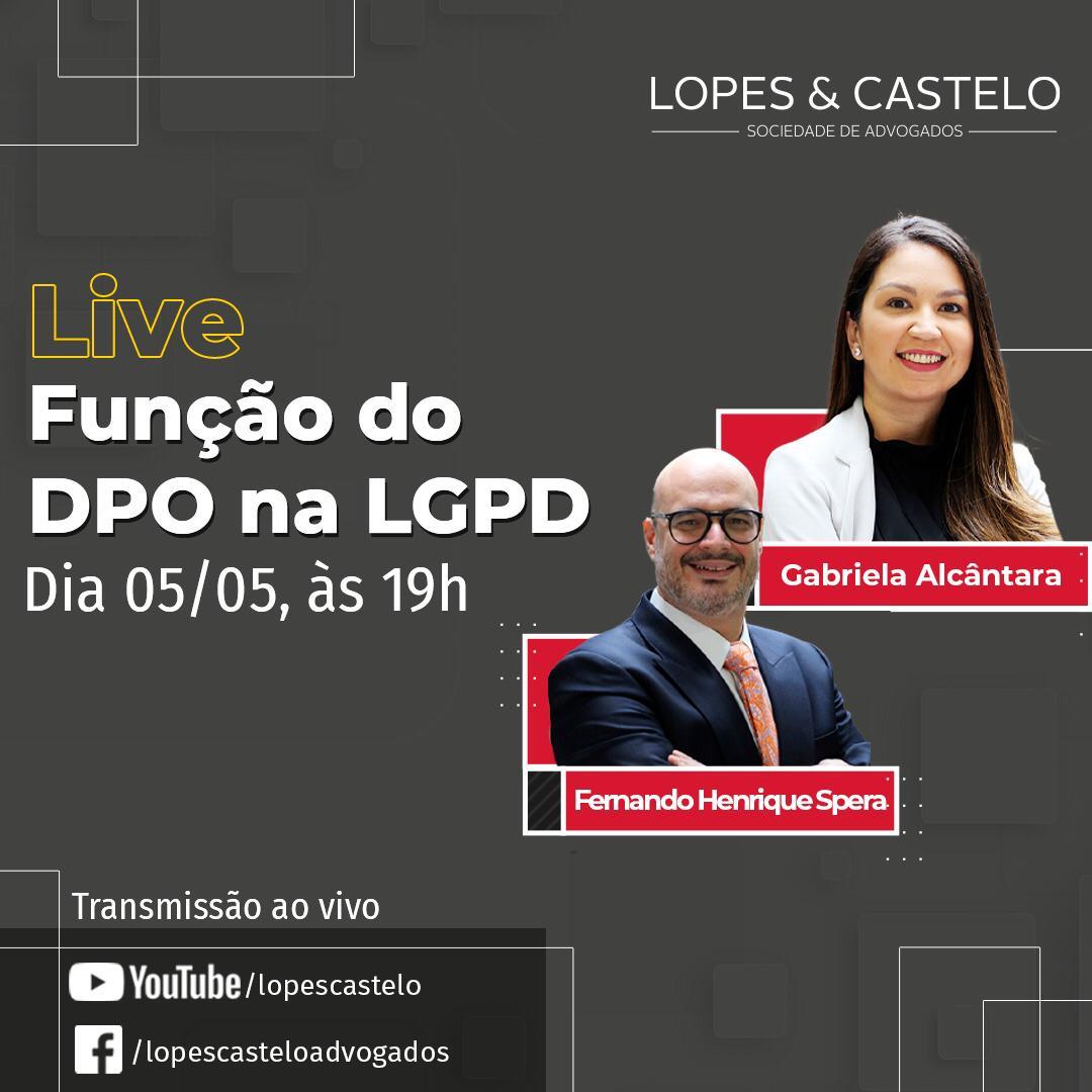 Live – Função do DPO na LGPD – Dia 05/05, às 19h