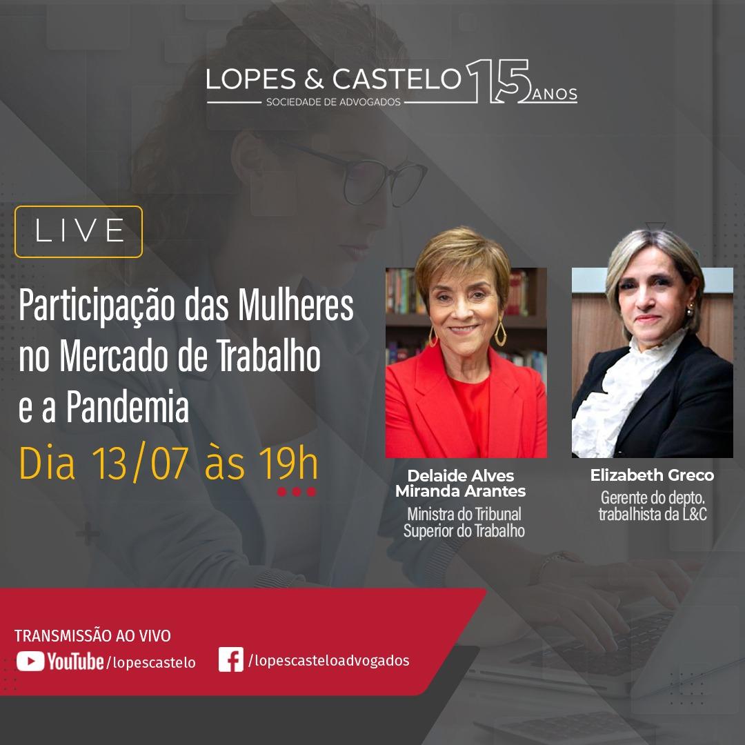 LIVE – Participação das Mulheres no Mercado de Trabalho e a Pandemia