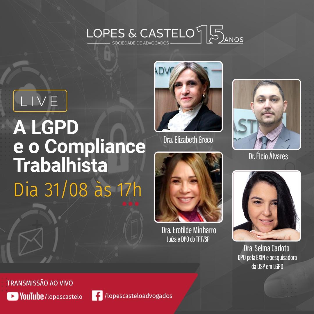 Live – A LGPD e o Compliance Trabalhista -Dia 31/08 às 17h